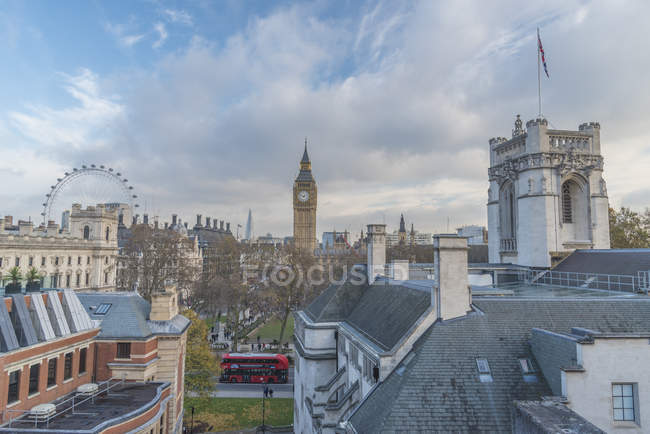 Westminster with a beautiful blue sky above — Stock Photo