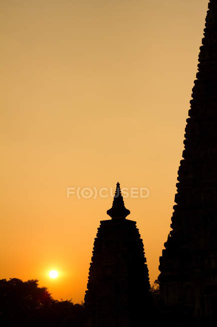 Mahabodhi Temple at Bodh Gaya — Stock Photo