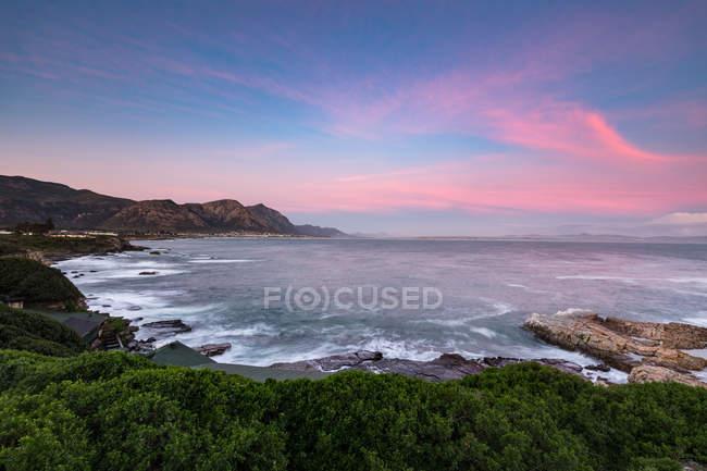 Sonnenuntergang mit Blick auf Walker Bay — Stockfoto