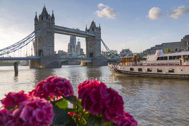 Tower Bridge e la città di Londra — Foto stock