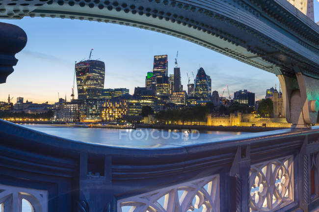 Skyline de la ville de Londres — Photo de stock