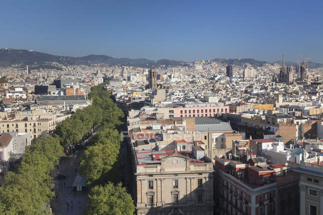 View of Barcelona, Catalonia — Stock Photo