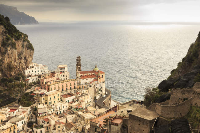 Atrani, elevated view of church — Stock Photo