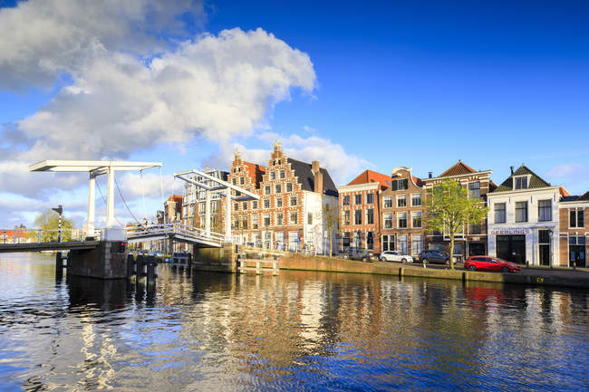 River Spaarne, Haarlem — Stock Photo