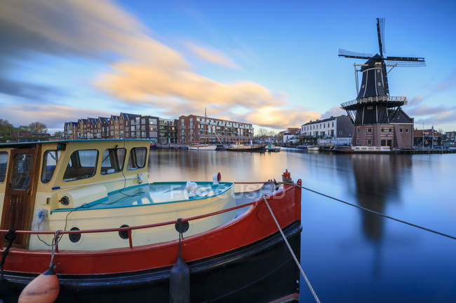 River Spaarne at dusk — Stock Photo