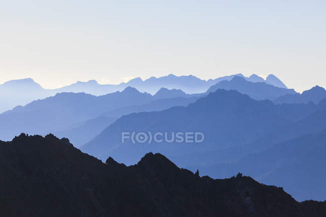 Profiles of peaks of Brenta Dolomites — Stock Photo