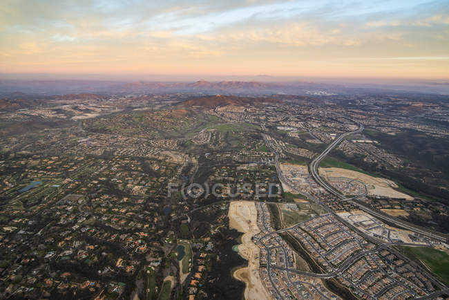 Encinitas from hot air balloon — Stock Photo