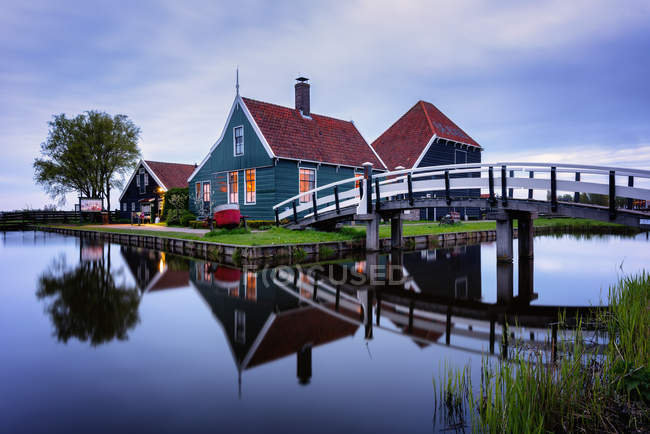 Zaanse Schans, Zaandam, Netherlands — Stock Photo