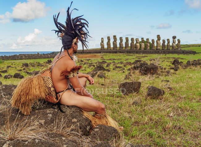 Native man de Rapa Nui — Photo de stock