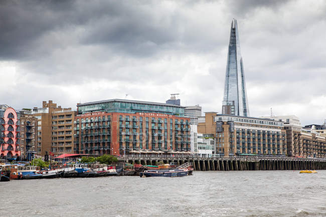 Butlers Wharf and the Shard — Stock Photo