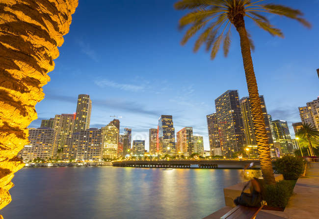 Downtown Miami skyline — Stock Photo