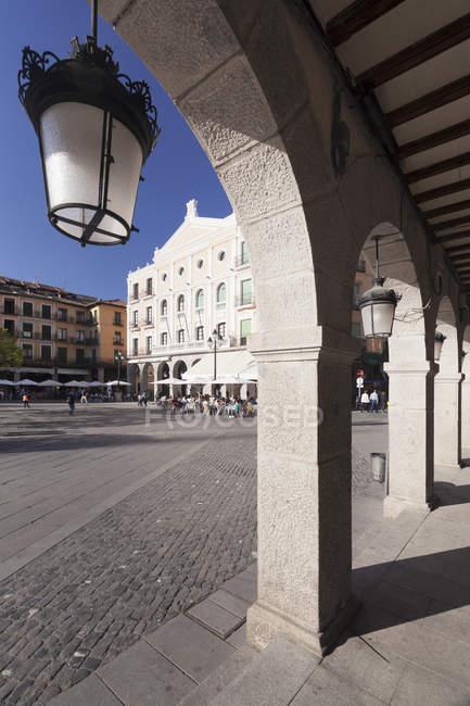Plaza Mayor, Teatro Juan Bravo — стокове фото