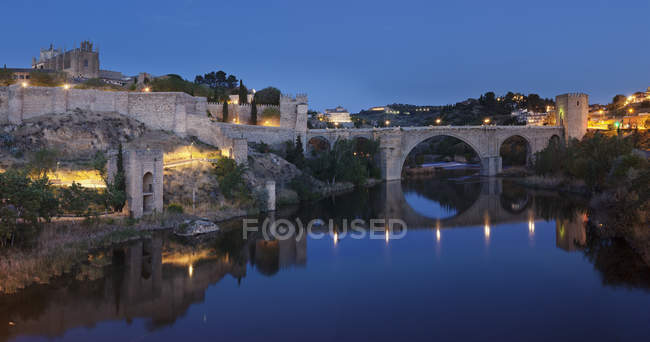 Puente de San Martin міст — стокове фото