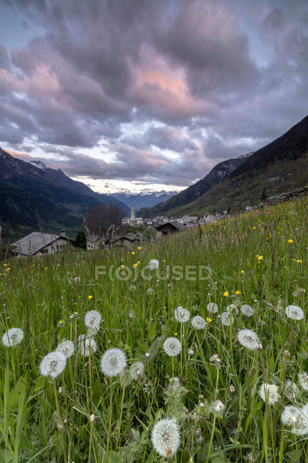 Alpine village of Soglio — Stock Photo