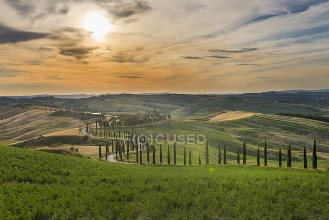 Baccoleno farmhouse, Val d Orcia — Stock Photo