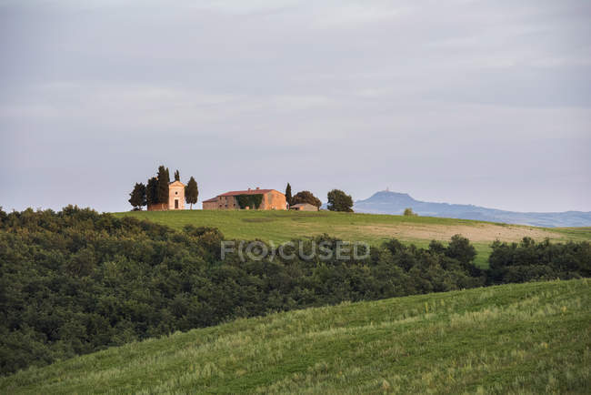 Vitaleta church at sunset — Stock Photo