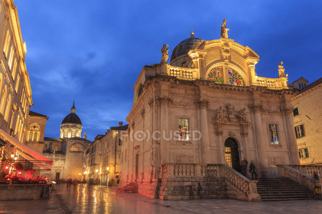 Church of St. Blaise and Cathedral, Dubrovnik — Stock Photo