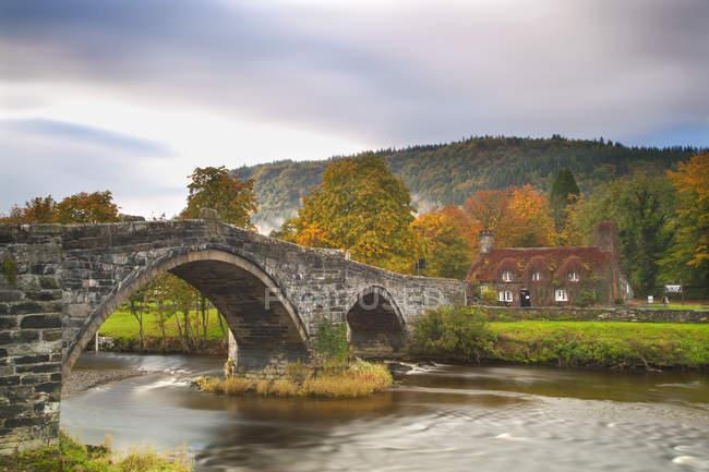 Llanrwst Bridge, Pont Fawr, Clwyd, — Stock Photo