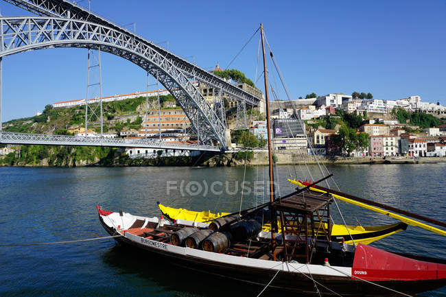 Boat on River Douro — Stock Photo