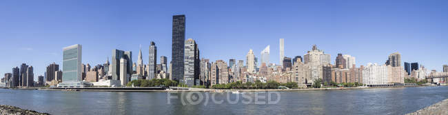 Skyline panoramique de Manhattan — Photo de stock