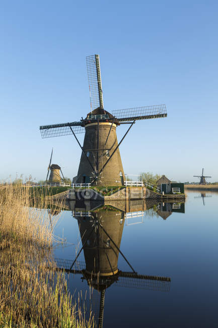 Old Windmill in summer field — Stock Photo