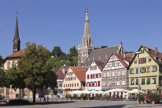 Église Saint Paul Minster et Frauenkirche — Photo de stock