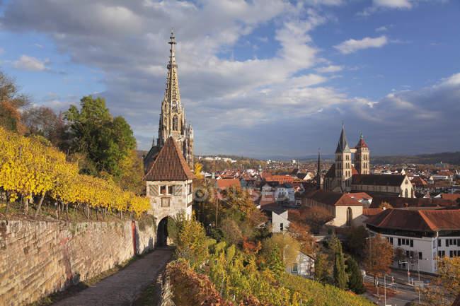 Kirche St. Dionys und Frauenkirche — Stockfoto