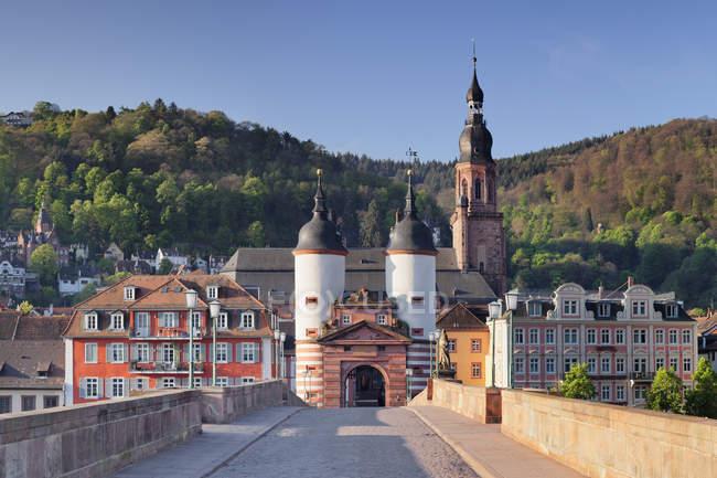 Altstadt mit Karl-Theodor-Brücke — Stockfoto