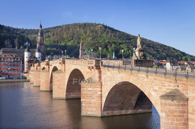 Old town with Karl-Theodor-Bridge — Stock Photo
