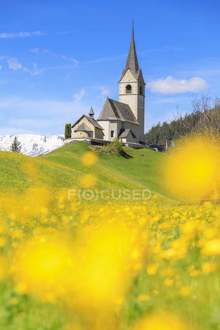 Alpine church of Schmitten — Stock Photo