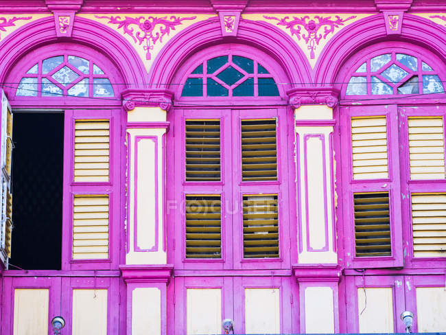 Brightly painted windows — Stock Photo