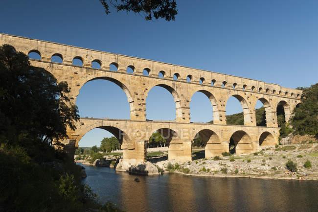 Pont du Gard aqueduct in Provence, France — Stock Photo