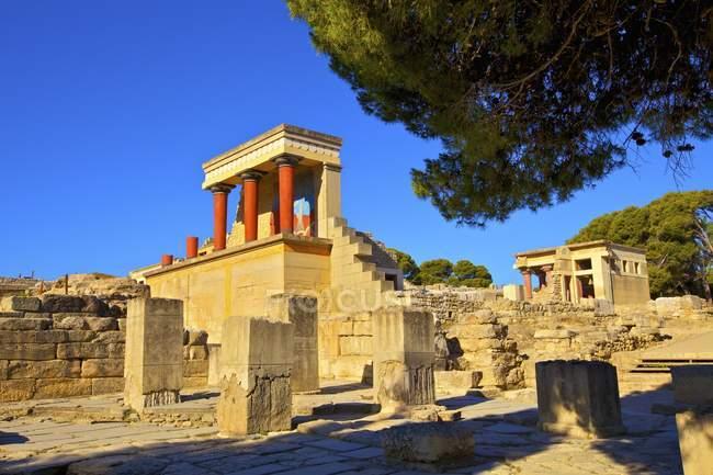 Rovine del Palazzo di Cnosso a Creta, Grecia — Foto stock