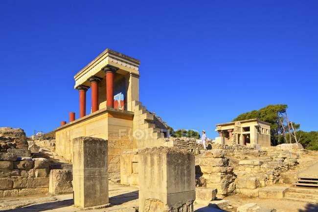 Il palazzo minoico di Knossos, Cnosso, Heraklion, Creta, Grecia — Foto stock