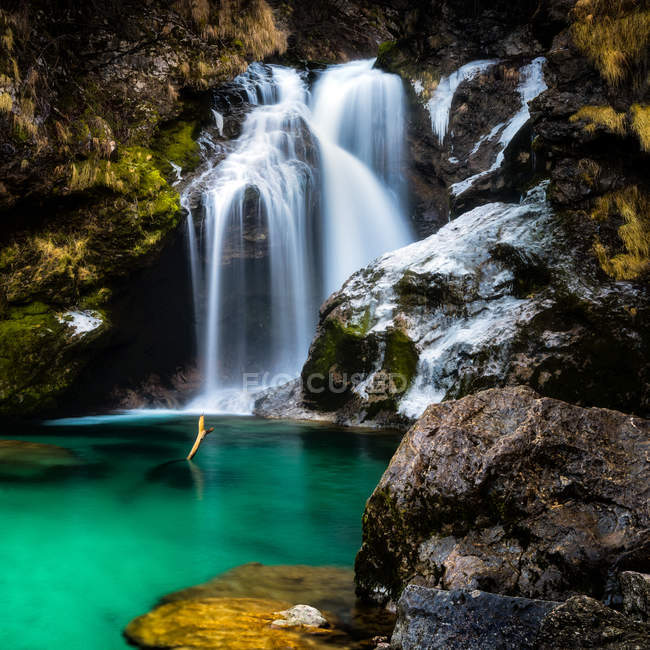 Vintgar Gorge waterfall in Slovenia, Europe — Stock Photo