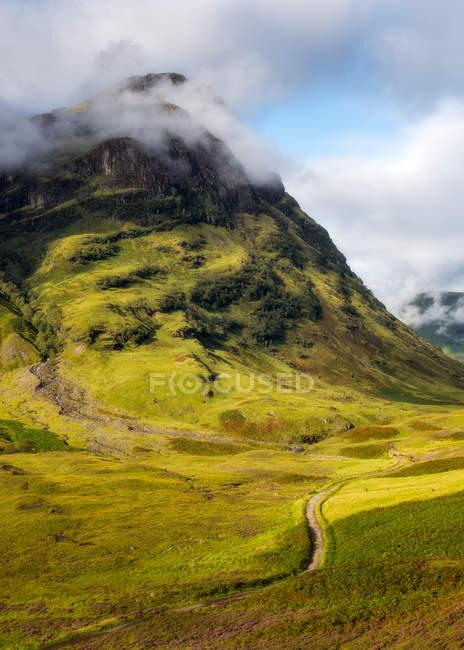 Mountain in Glencoe village — Stock Photo