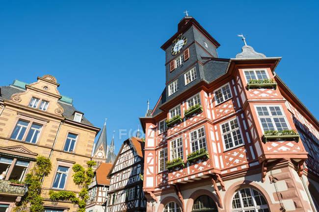 Historische Gebäude am Marktplatz in Heppenheim, Deutschland — Stockfoto