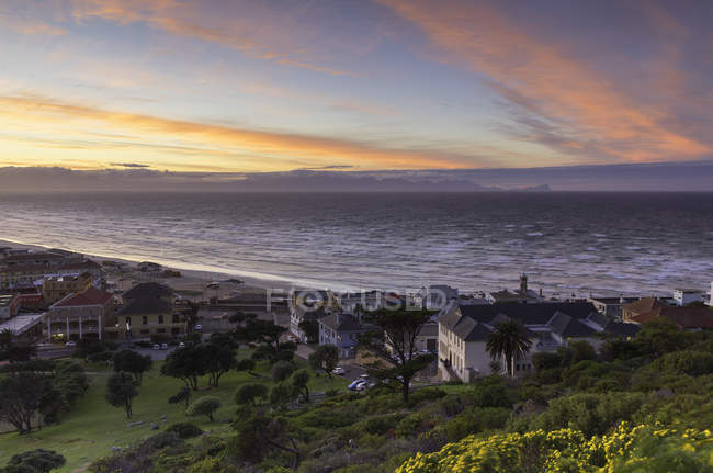 Muizenberg Beach at sunset — Stock Photo