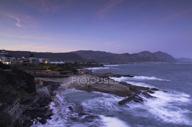 Hermanus Bay bei Sonnenuntergang — Stockfoto