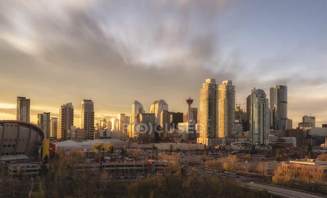 Skyline de cidade de Calgary — Fotografia de Stock