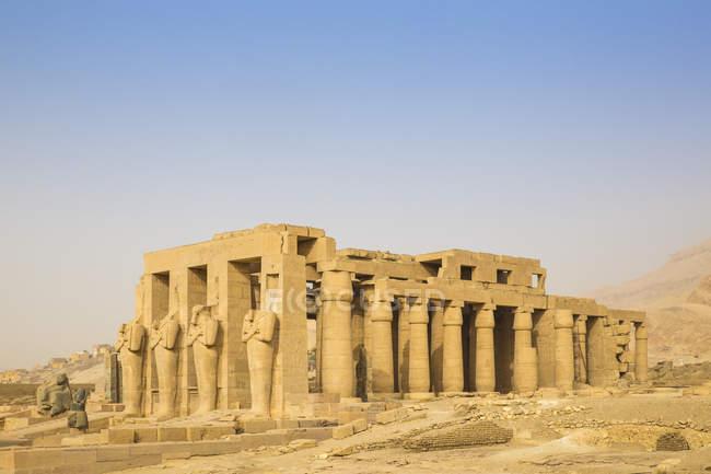 Похоронний храм Рамзеса Ii — стокове фото