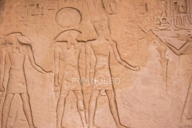 Ієрогліфи на храм Рамзеса Ii — стокове фото
