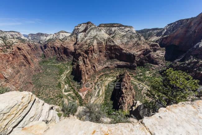 Tal in Zion Nationalpark — Stockfoto