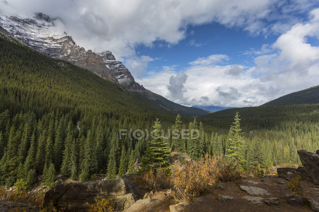 Bergige Landschaft am Moraine Lake — Stockfoto
