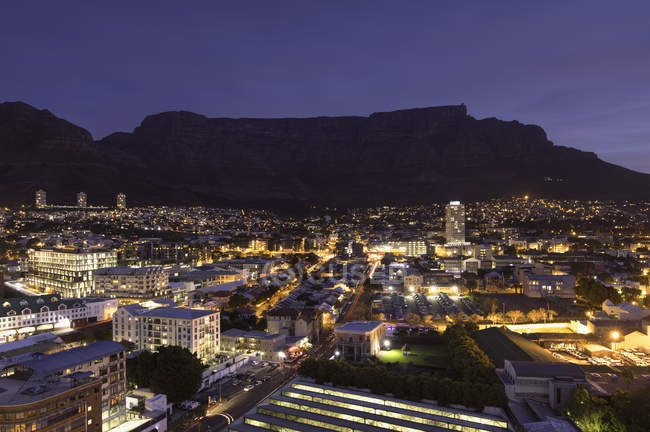 Table Mountain at dusk — Stock Photo