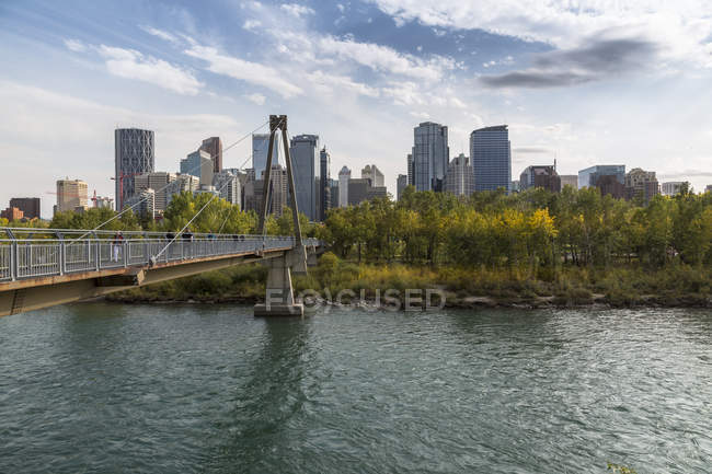 Bow River and Downtown — Stock Photo