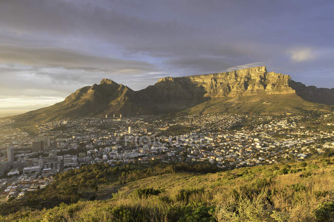 Table Mountain at dawn — Stock Photo