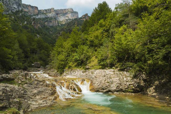 Waterfall on Rio Bellos river — Stock Photo