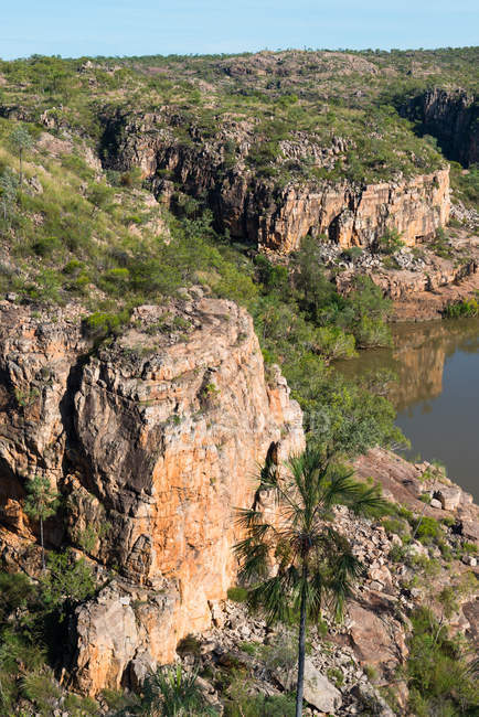 Klippen am Katherine Gorge National park — Stockfoto