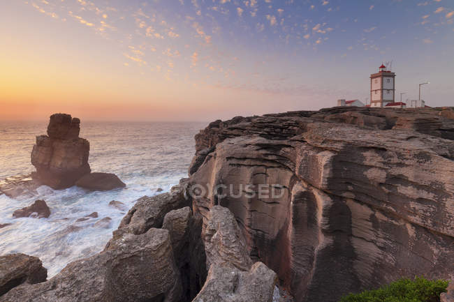 Cabo Carvoeiro lighthouse on cliff — beauty in nature